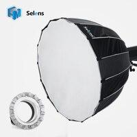 Selens 90 см flash softbox Umbrella Softbox Бролли Отражатель Диффузор с Profoto крепление