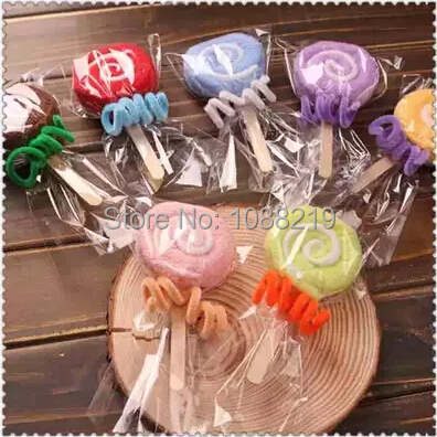 Lollipop Towel 30pcslot Wedding Gift Ideas Baby Shower Favors
