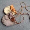Todos os Acessórios Do Bebê Da Menina do Menino Kawaii Sacos de Mão de tricô Roupas Combinando Crianças Saco Do Mensageiro Do Ombro bolsa Crianças Moeda Foto