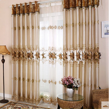 High end european simple embroidery room lying window for High end curtains and window treatments