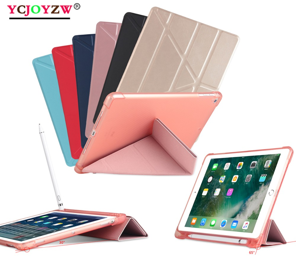 Tablet Accessories Tablets & E-books Case The Best Multi-angle Hot Case For 2017/2018 New Ipad 9.7 Inch/pro 9.7/air 1/air 2 Ycjoyzw-pu Leather Smart Cover+silicone Tablet Case Crazy Price