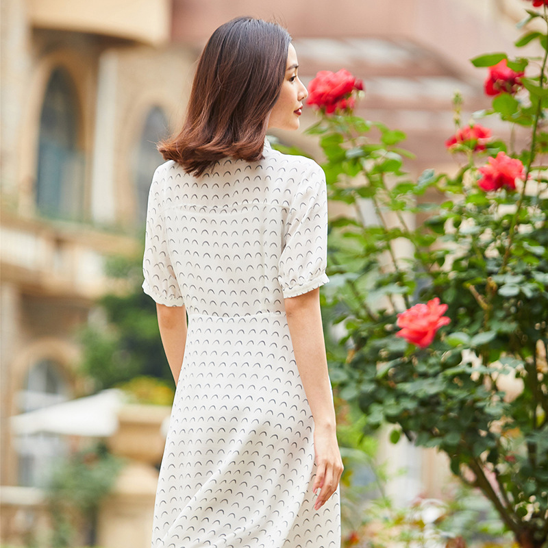 Robe en soie tournesol 2019 femmes robes d'été bohème plage grande taille maxi grande taille longue robe sexy blanc floral à manches courtes - 3