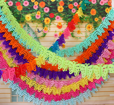 200pcs Butterfly Paper Lahua Birthday Party Decorations Kids Wedding