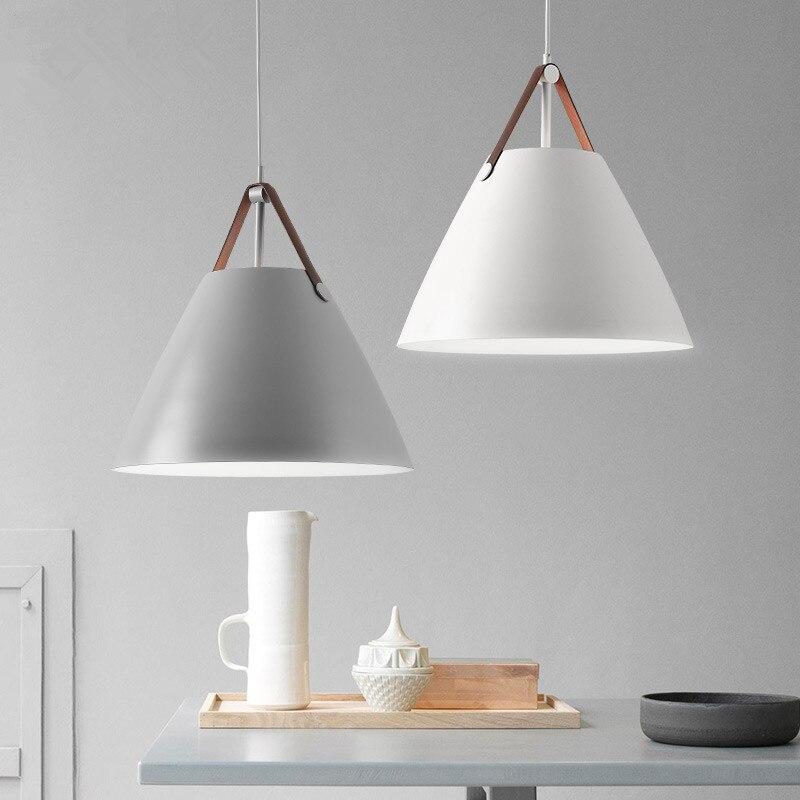 Modern Nordic Pendant Lights Cone LED White Pendant Lamp kitchen dining Room bar Lighting Hanging Lamp luminaire Light Fixtures