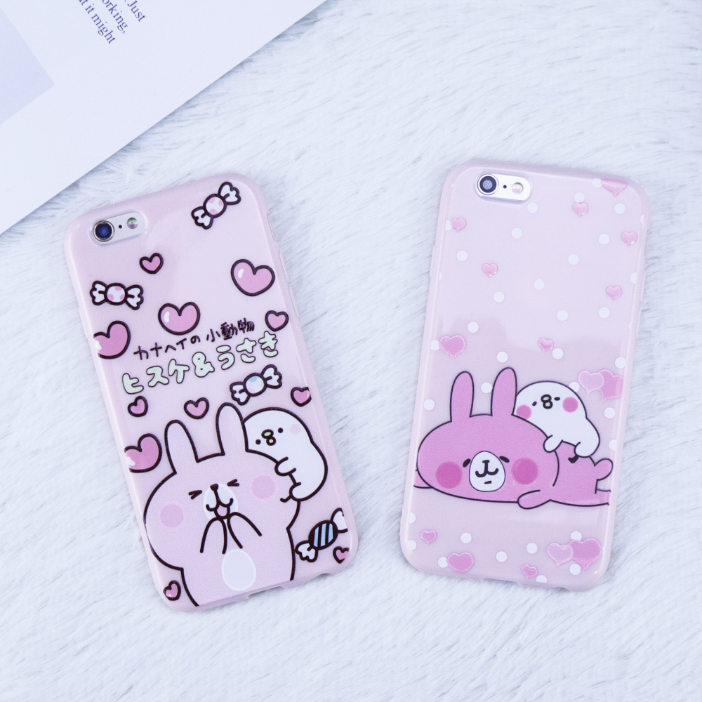 For iphone 6 Case Lovely cartoon rabbit Animal Case For iphone 7 Case soft phone Perfectly protected tpu cover For iphone 8 Case