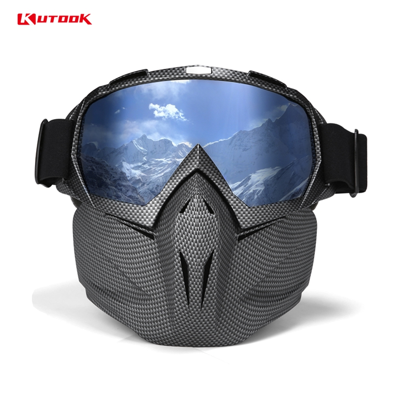 KUTOOK HD Lenses Ski Glasses Snow Glasses Protective Snowboard Goggles UV400 Anti fog Windproof Ski Mask Winter Snow Goggles