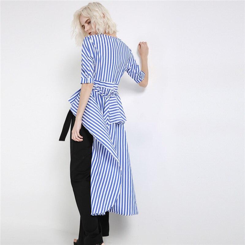 Nuevo vestido a la moda con cuello en V a la moda de 2019 para mujer - 3