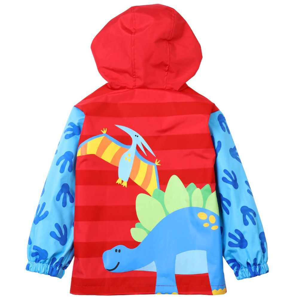 2018 Musim Semi Musim Gugur Kartun Dinosaurus Jas Hujan Anak Pakaian Hangat Sporty Anak-anak Pakaian Tahan Air Tahan Angin Anak Laki-laki Jaket