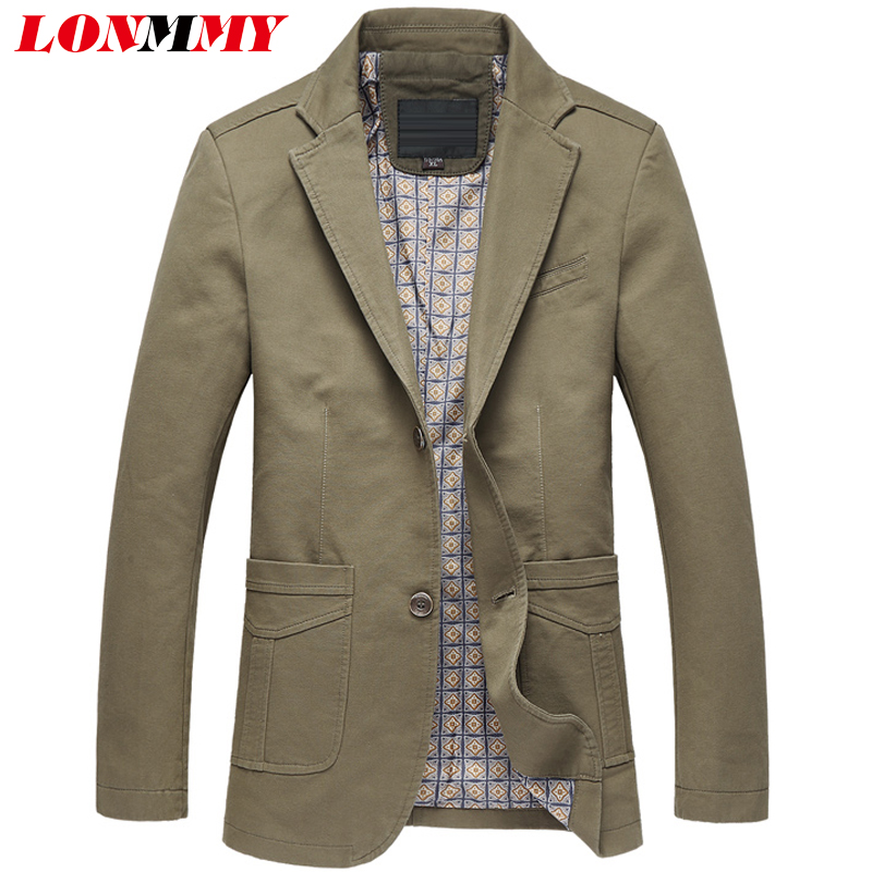 LONMMY 4XL 5XL Fashion Mens Blazer Jacket Business Suit
