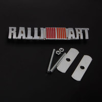 Fit For Lancer Ralliart Car Front Grille Badge Grill Emblem 3D Metal Decal Badge Styling