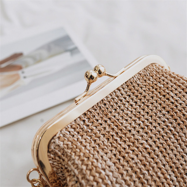 Small Rattan Boho Crossbody Bag