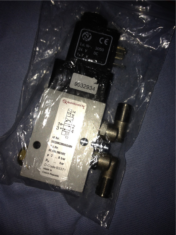 Solenoid valve 61.184.1051/02 for Heidelberg CD/SM 102 offset printing press