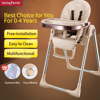 BN baby dining chair children dining chair multi function foldable portable baby chair with roller
