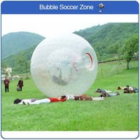 Free Shipping Zorb Ball 2.5m Dia Inflatable Human Hamster Ball 0.8mm PVC Material Outdoor Transparent Giant Inflatable Ball