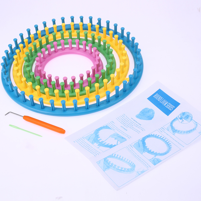 4 Size Classical Round Circle Hat Knitter Knitting Knit Loom Kit 1