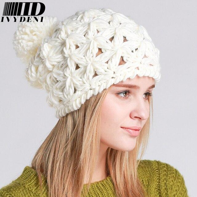 2016 nueva llegada de invierno de las mujeres sombrero tejido para ...