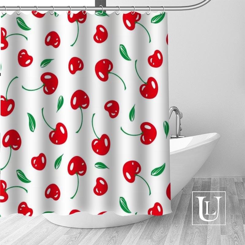 Плоды черемухи душ Шторы s пользовательские Дизайн творческих душ Шторы Ванная комната Водонепроницаемый полиэфирной ткани