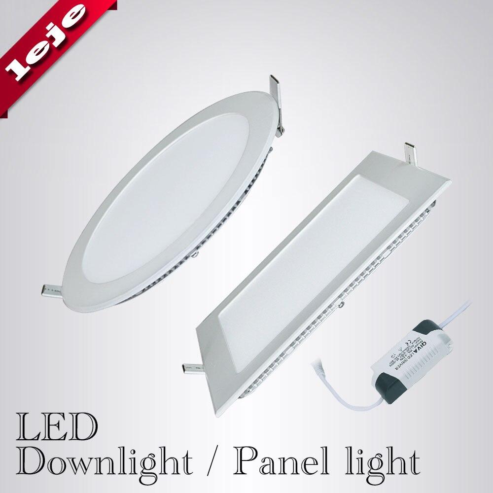 18w Led Panel Light Flat Ultra Thin Led Panel Downlight: Ultra Thin LED Downlight Panel Light Round/Square 3W 6W 9W