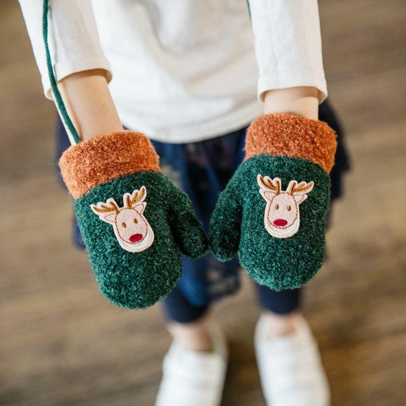 Mother & Kids Frank Christmas Children Baby Gloves Winter Warn Five Finger Mittens Kids Cotton Gloves Limpid In Sight
