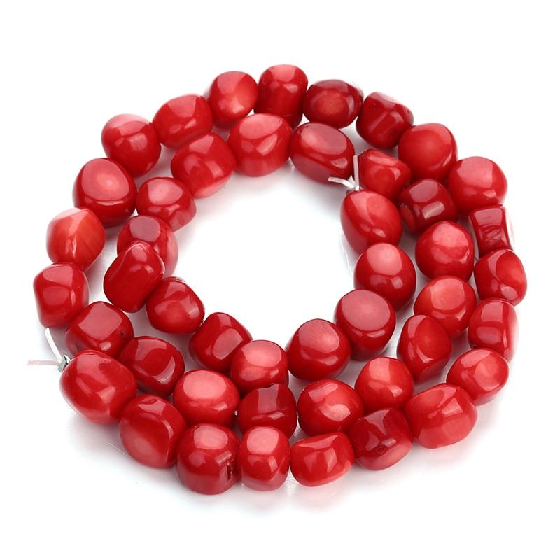 Prix pour XINYAO Lâche Naturel Réel Rouge Corail Perles Fit Bricolage Bracelet Collier Conclusions Irrégularité Spacer Perles Pour Fabrication de Bijoux F4012