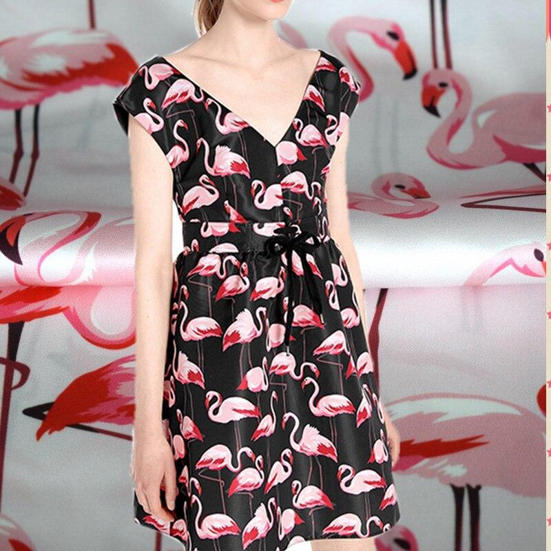 Limited Flamingos digital bedruckte Seide natürlichen - Kunst, Handwerk und Nähen - Foto 1