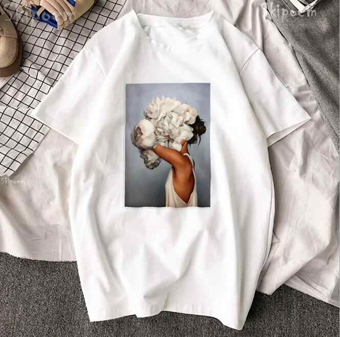 Hillbilly 2019 Street Style Women Harajuku Head Portrait Printed Fashion Female Tops&Tees Oversize Summer Graphic t shirts Women
