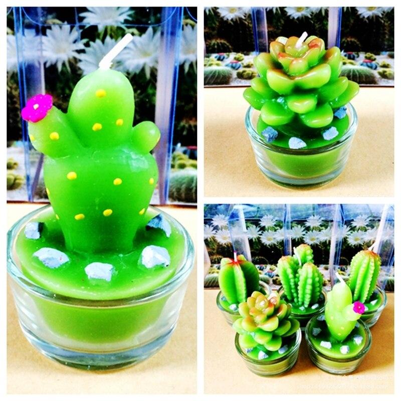 Random 1pcs Hot Sale Cute Plant Candles Kid Birthday Cake