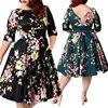 Spring Summer Big Plus Size 5XL 6XL 7XL 8XL 9XL 2018 Vestidos Women African 3D Print