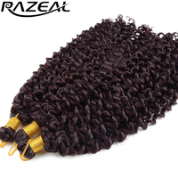 Razeal Synthetic Curly Crochet Braids Hair 14 Inch 100g Pcs Grey Black Brown Blonde Purple Ombre