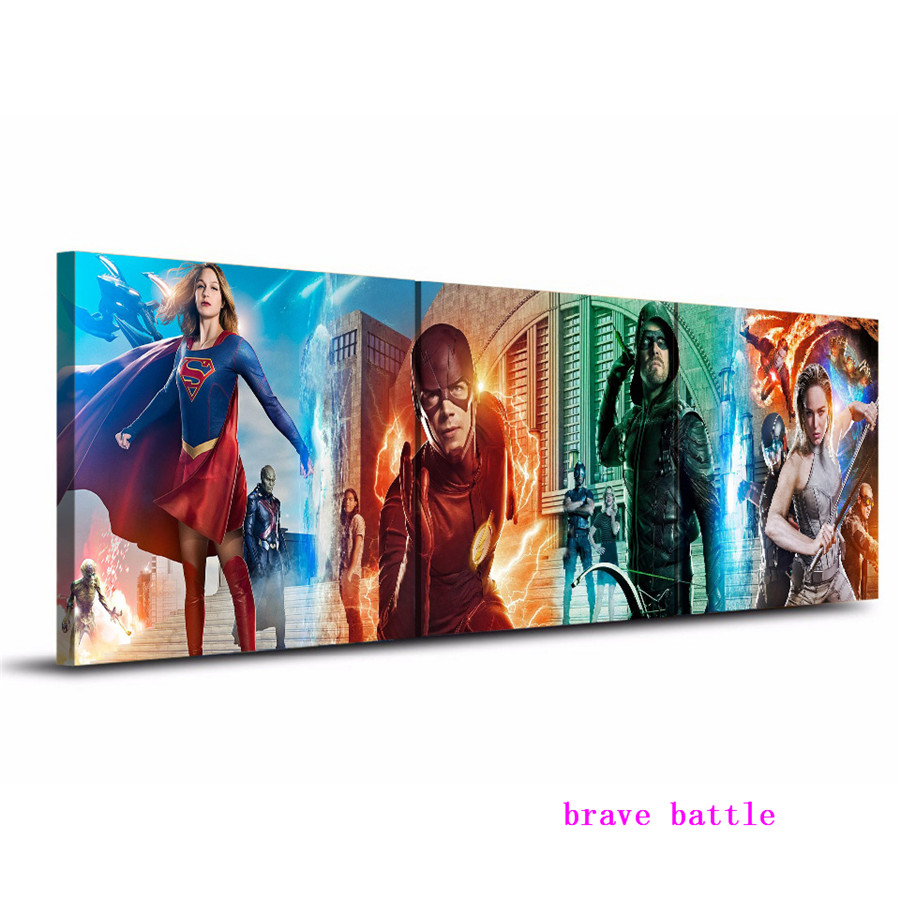 Batman DC Superheroes The Last Supper Silk Fabric Poster 13x32 24x60 inch