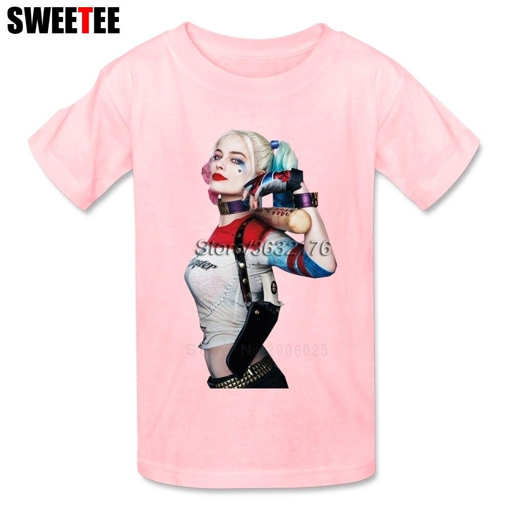 Suicide Squad childrens T Shirt Tshirt 2018 Harley Infant Cotton Crew Neck Kid Toddler Garment Boy Quinn Girl T-shirt For Baby