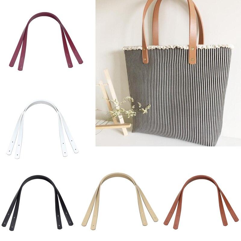 2*60cm Leather Handles Durable Shoulder Bags Detachable Belt Women Girls Retro Handle DIY Handmade Replacement Handbag Strap