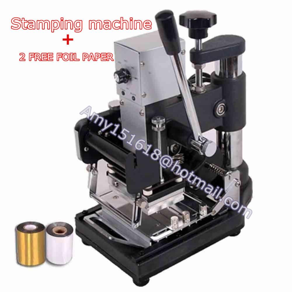 Metal Stamping Machine Tool Belarus: 110V/220V NEW Manual Metal Hot Foil Stamping Machine