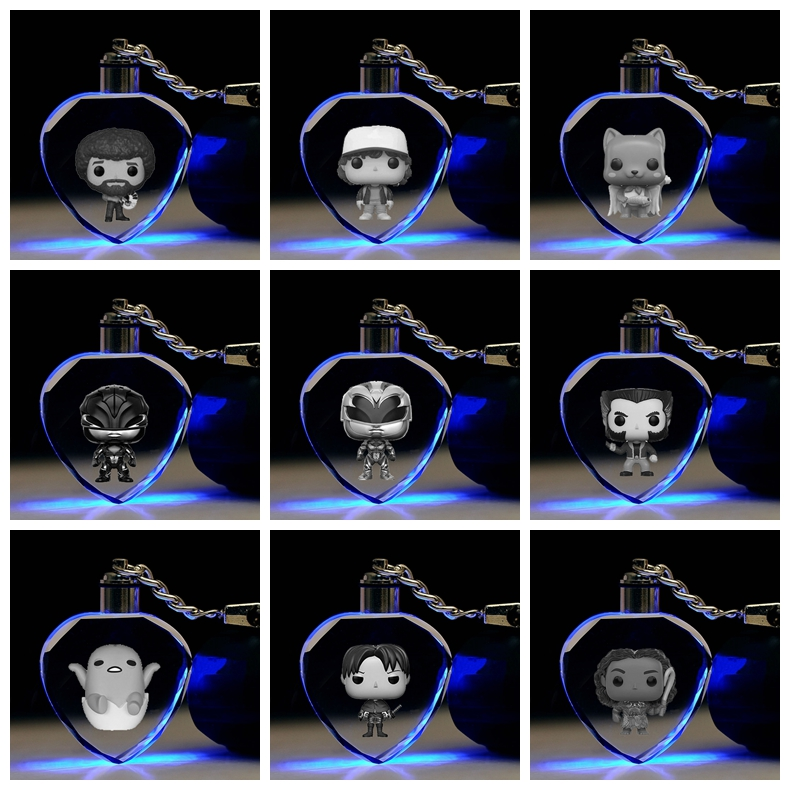 Key-Toy Crystal-Figure-Ornaments Action-Figures Game Gifts Cartoon-Light Monster Anime