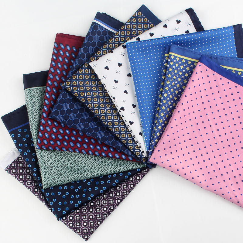 2018 New Popular 32 X 32 CM Large Handkerchief Man Paisley Flower Dot Pocket Square Men Paisley Casual Hankies For Men's Suit