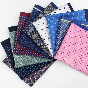 2018 New Popular 32 X 32 CM Large Handkerchief Man Paisley Flower Dot Pocket Square Men Paisley Casual Hankies For Men's Suit