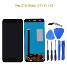 ZTE Blade X7 ekran V6 T660 T663 LCD monitör dokunmatik ekran dijitalleştirici ekran Aksesuarları ZTE Blade X7 V6 Z7 LCD + araçları