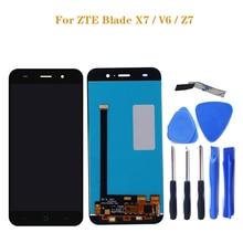 ل ZTE شفرة X7 عرض V6 T660 T663 LCD شاشات مراقبة تعمل باللمس شاشة رقمية اكسسوارات ل ZTE شفرة X7 V6 Z7 LCD + أدوات