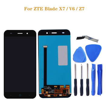 for ZTE Blade X7 display V6 T660 T663 LCD Monitor Touch Screen Digitizer Screen Accessories for ZTE Blade X7 V6 Z7 LCD+tools чехол для zte blade x7 skinbox lux aw белый