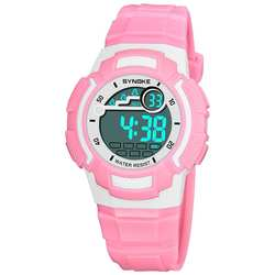 Водонепроницаемый модная детская одежда спортивные почасовой сигнал секундомер цифровые наручные часы подарок