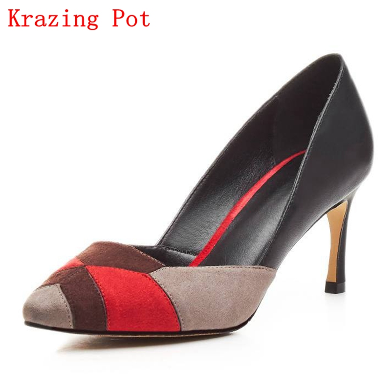 2017 Fashion Brand Spring Shoes High Heel Shallow Women Pumps Causal Wedding Pointed Toe Party Wholesale Office Lady Shoe L21 2017 new fashion brand spring shoes large size crystal pointed toe kid suede thick heel women pumps party sweet office lady shoe