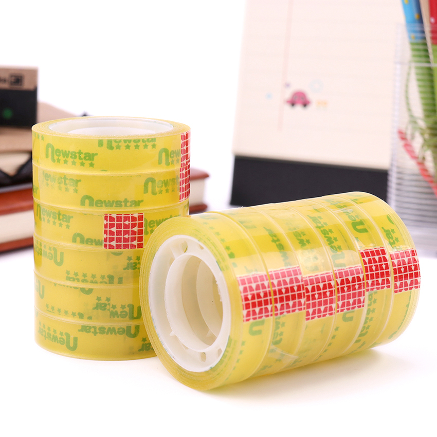 180M Sale Quality Transparent Adhesive Tape Pack Tools School Office Supplies Stationery Tapes 12 PCS