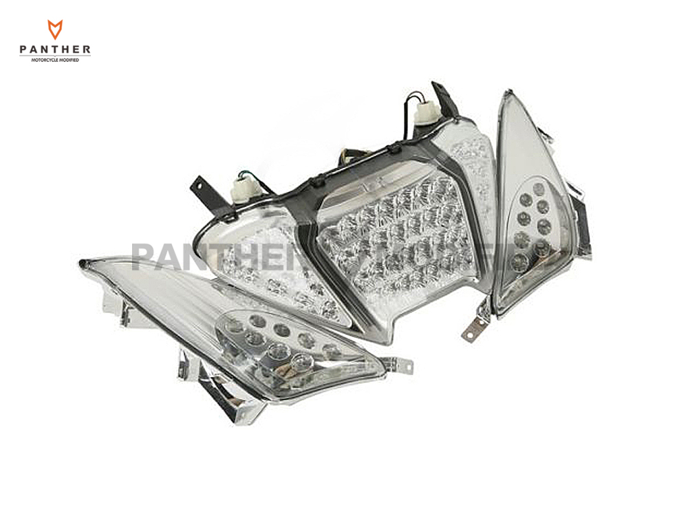 Ясно мотоцикла LED сзади стоп поворотники Integrated комплект мото задние фонари чехол для Yamaha Tmax 500 2008 2009 2010 2011