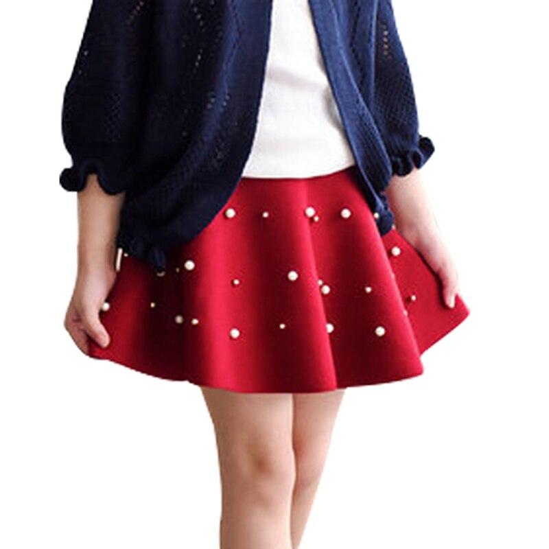 Tutu Skirt Girl Cute Pearl Skirts for Girl Kids Solid High ...