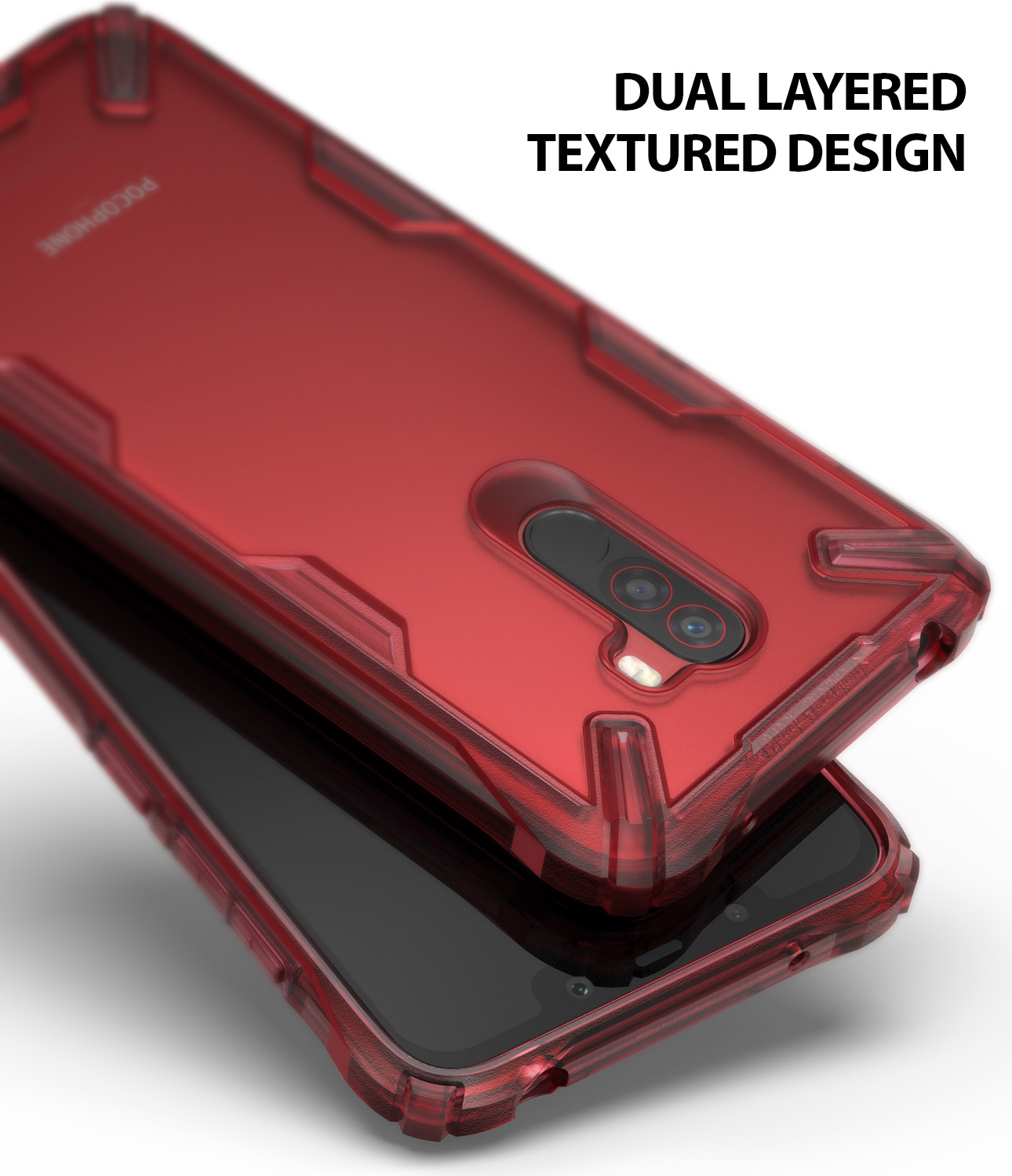 low priced ea85e 76631 US $14.99 |Rearth Ringke Xiaomi Pocophone F1 Case Ringke Fusion X Fashion  Durable Clear Back Cover Hybrid Cases-in Fitted Cases from Cellphones & ...