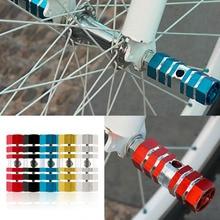 New 2pcs Bicycle Foot Pegs 1 Pair Aluminum Alloy Bike Cycling Rear Stunt Peg Six Axle