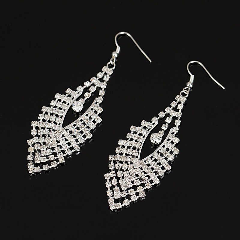 YFJEWE 2018 boucles d'oreilles en cristal de luxe pour femmes boucles d'oreilles en argent plaqué or de haute qualité bijoux de mariage # E200