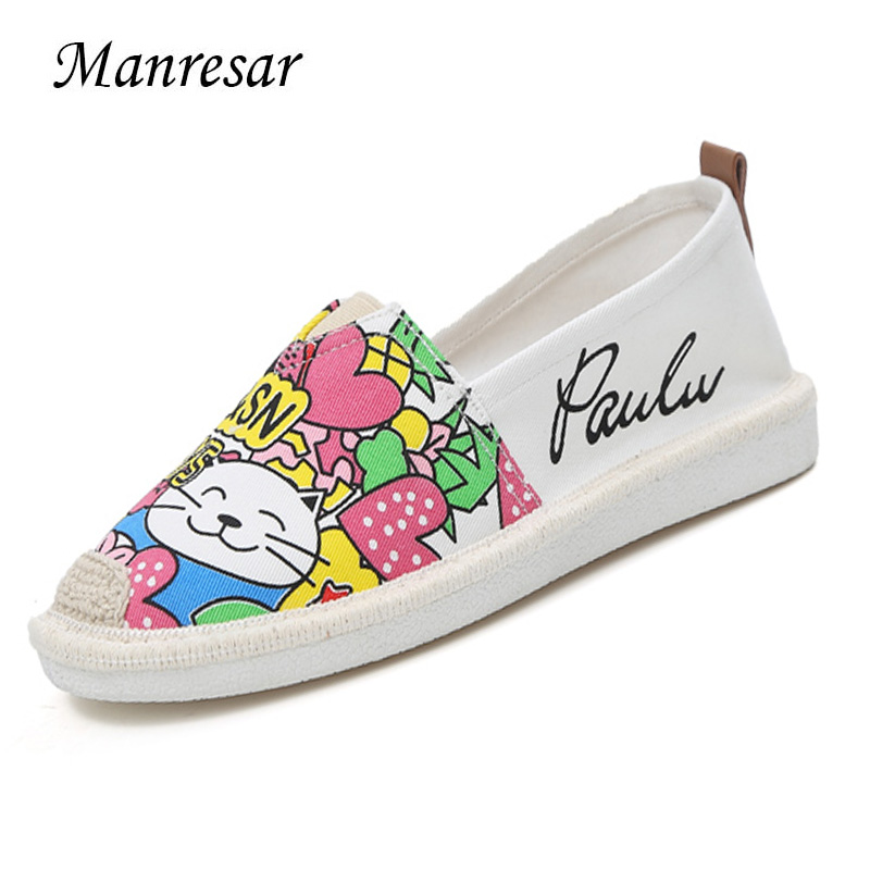 Manresar 2017 New Soft Spring Summer Women Flats Zapatos Mujer Round Toe Flat Shoes Canvas Shoes Comfortable Sapato Feminino vintage women flats summer new soft canvas embroidery shoes casual slip on bow dance flat sandals for woman zapatos mujer