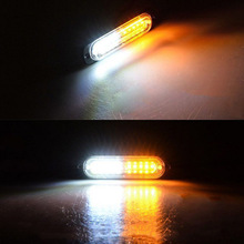 1pcs Headlight Car-Styling Truck Led Warning Lamps Strobe Emergency Lights  Flashing Amber white amber green blue 6x9 led snow plow car boat truck warning emergency strobe lights indicator grill fog lamps warning lights