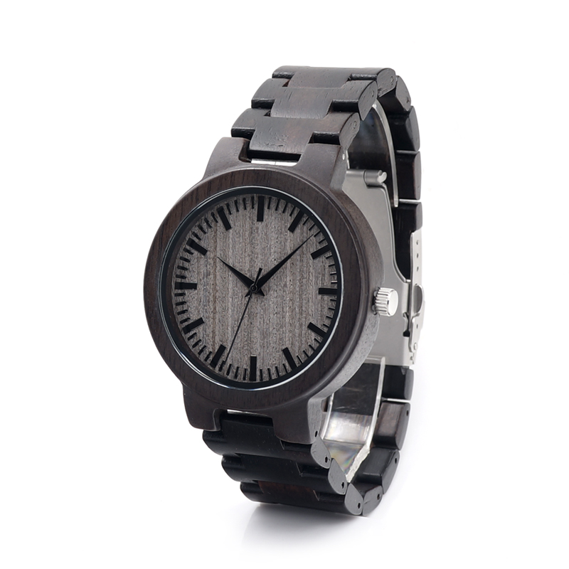 2017 Top Brand BOBO BIRD Men Watch Handmade Real Wood Quartz Watches Wooden Band Wristwatch relogio masculino